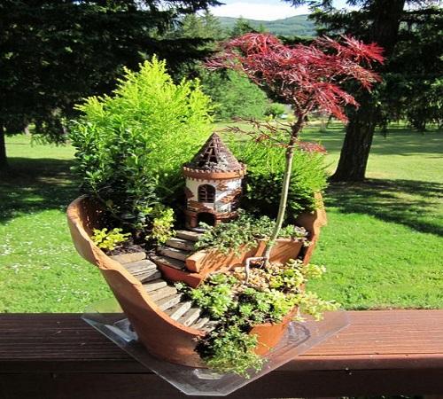 pot bunga dari tanah liat