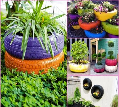 pot bunga ban bekas
