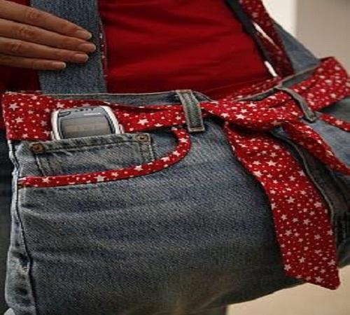tas lengan jeans bekas