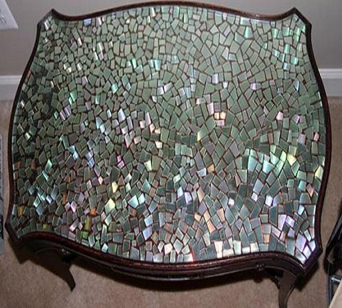 mozaik-meja-unik-CD-Bekas