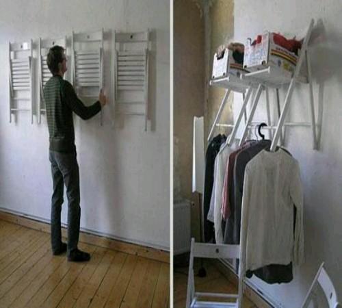 gantungan baju daur ulang kursi