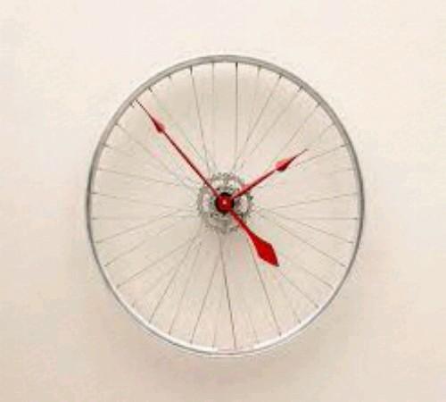 jam dinding daur ulang roda sepeda