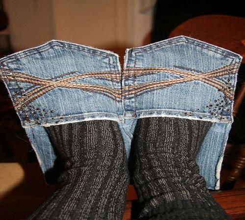 sandal rumah jeans