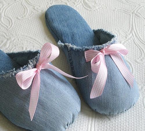 sandal rumah jeans bekas