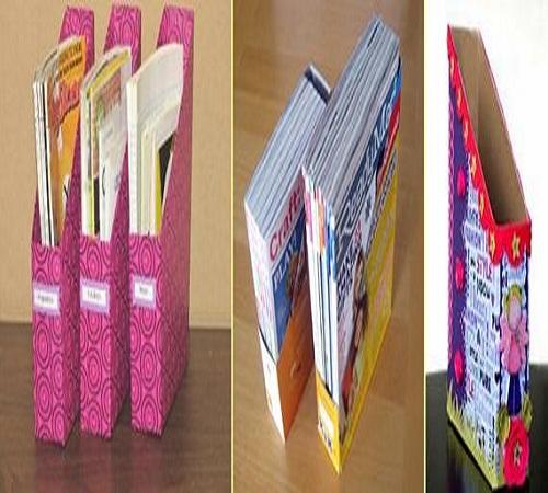 Penyimpanan-majalah-karton-bekas