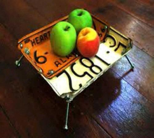 wadah/mangkok buah daur ulang Plat nomor kendaraan