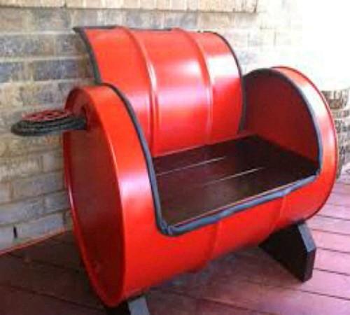 kursi daur ulang drum bekas