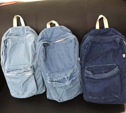 tas rangsel jeans bekas