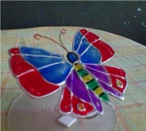 hiasan-Kupu-kupu-CD-Bekas