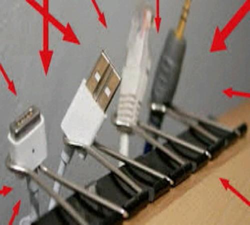 gantungan kabel daur ulang Klip/penjepit kertas