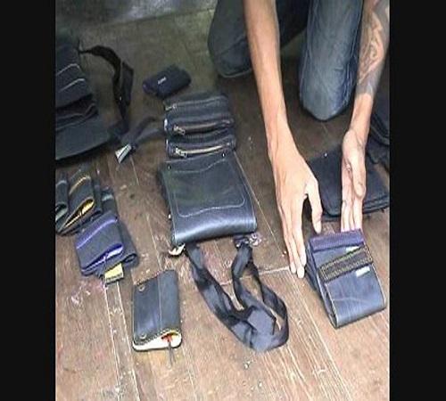 tas dan dompet ban bekas
