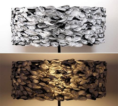lampu hias atau lampu tidur dari plastik kresek bekas