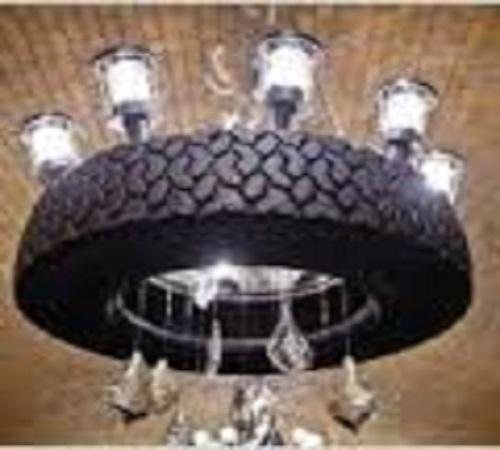 kap lampu gantung ban bekas