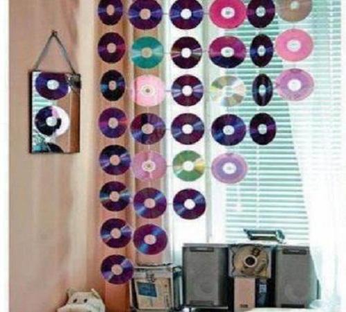 cara-membuat-tirai-cd-bekas