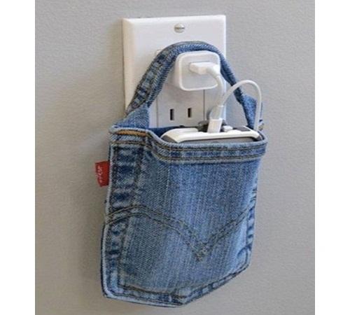 tempat charger hp jeans bekas