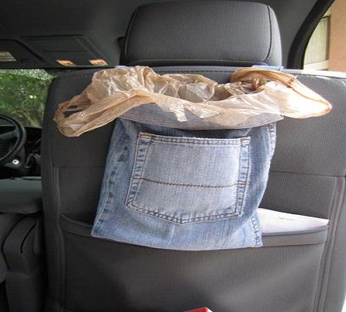kantong sampah jeans bekas