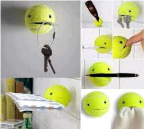 gantungan serbaguna daur ulang bola tenis