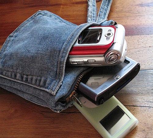 tas gadget jeans bekas