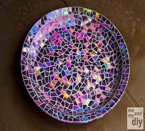 Piring-mozaik-CD-Bekas