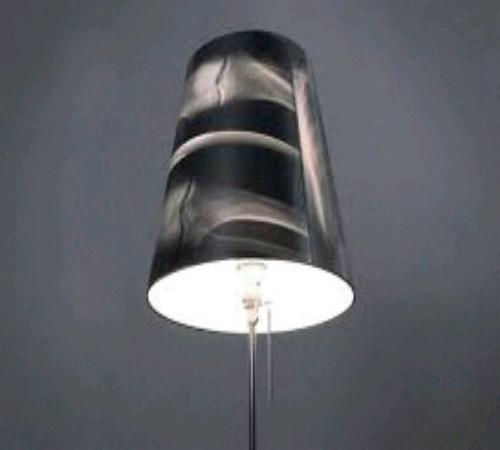 kap lampu hias daur ulang x-ray