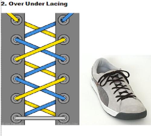 gaya mengikat tali sepatu 2