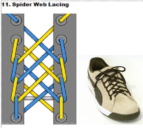 gaya mengikat tali sepatu 11