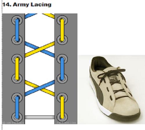 gaya mengikat tali sepatu 14