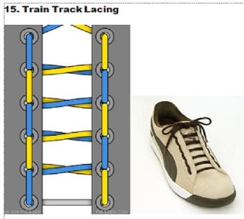 gaya mengikat tali sepatu 15