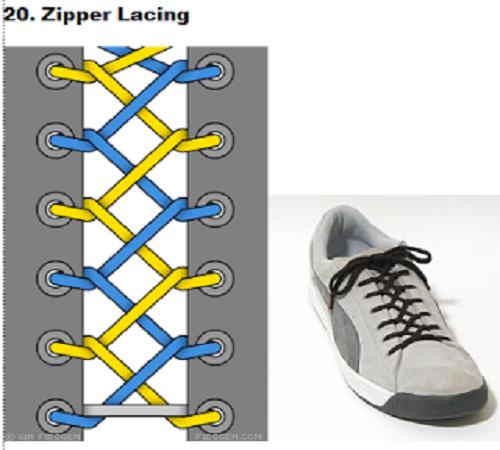 gaya mengikat tali sepatu 20