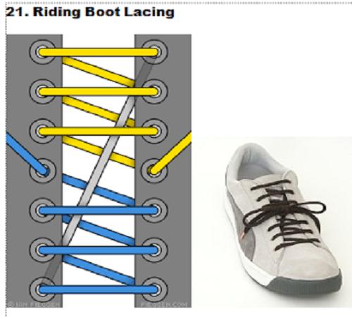 gaya mengikat tali sepatu 21