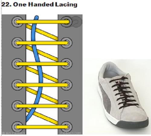 gaya mengikat tali sepatu 22