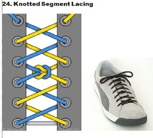 gaya mengikat tali sepatu 24
