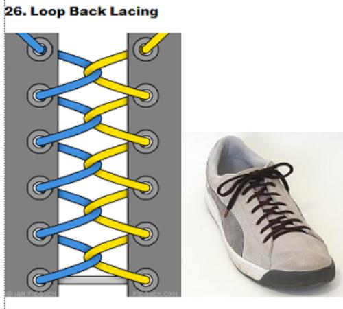 gaya mengikat tali sepatu 26