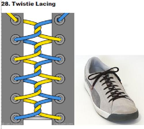 gaya mengikat tali sepatu 28