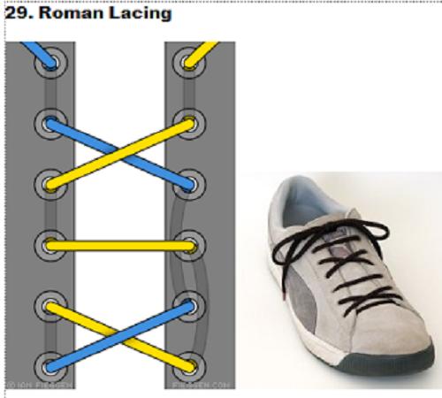 gaya mengikat tali sepatu 29