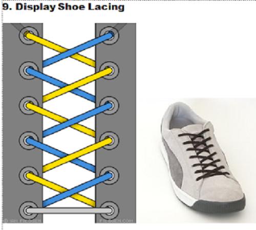 gaya mengikat tali sepatu 9