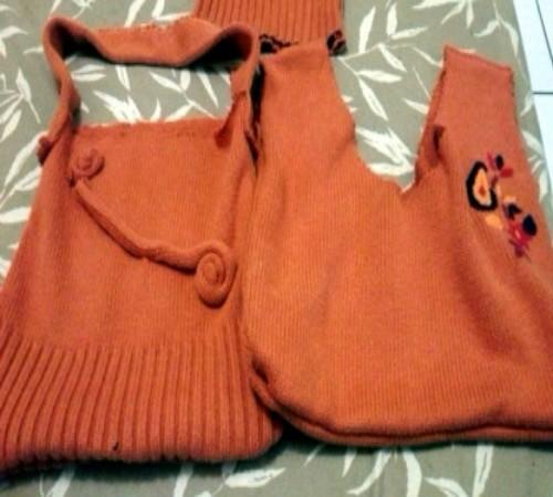 tas dari sweater bekas