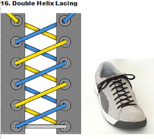 gaya mengikat tali sepatu 16