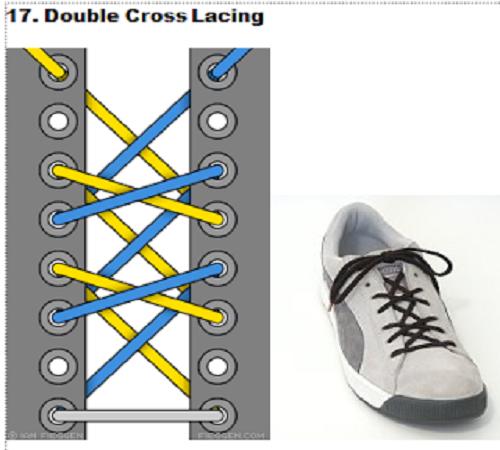 gaya mengikat tali sepatu 17