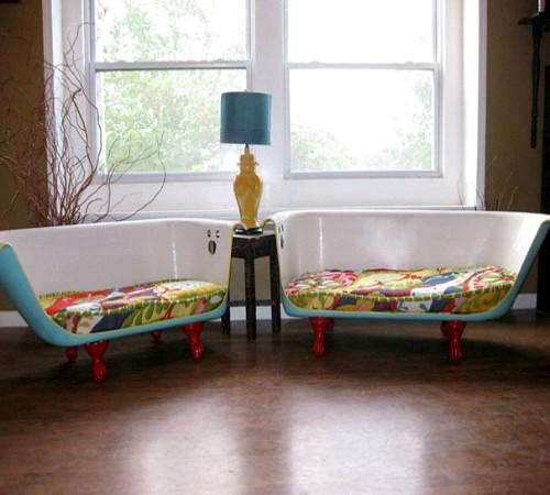 kursi sofa daur ulang Bathtub