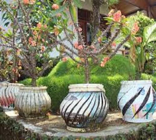 pot bunga ember bekas cat