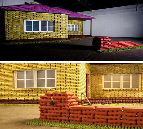 rumah dari karton wadah telur