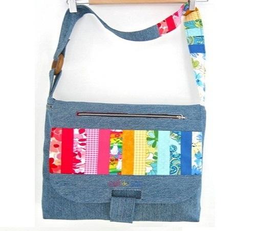 tas selempang jeans bekas