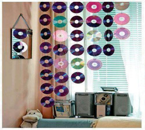 cara-membuat-tirai-cantik-cd-bekas