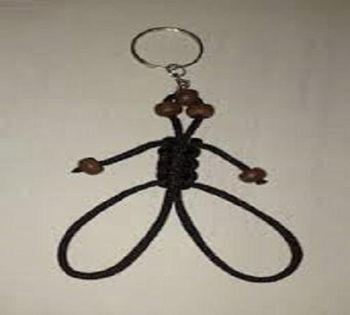Gantungan Kunci Unik Bentuk Monyet dari Makrame atau Tali Kur 2