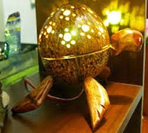 cara-membuat-lampu-hias-batok-kelapa