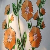 bunga dari serutan pensil