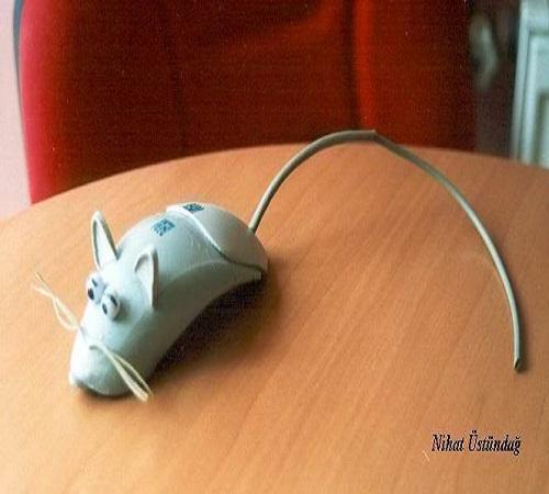 daur ulang mouse bekas menjadi tikus