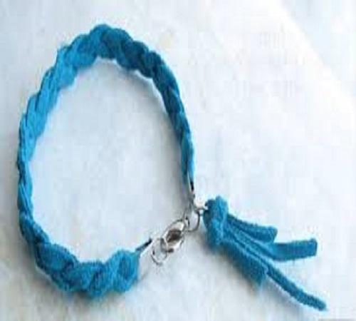 gelang kepang dari tali sepatu bekas 2