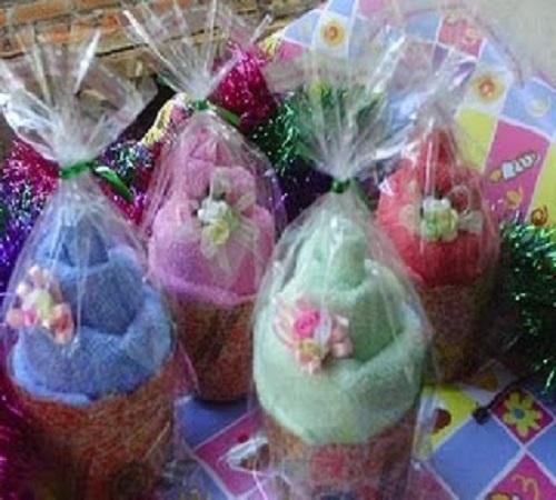 Cara Membuat Souvenir Pernikahan Towel Cake Bentuk Muffin